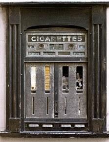 AEJKDC UK England Nostalgia Hay on Wye old cigarette vending machine