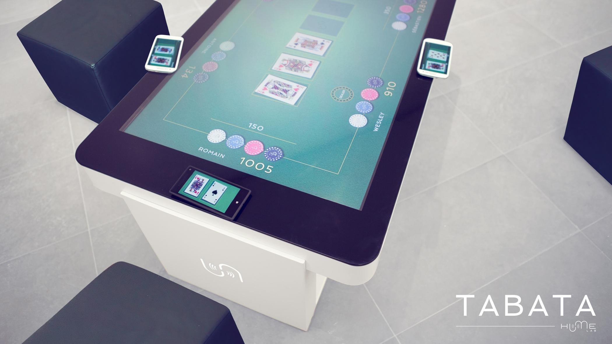 A Zytronic touch sensor interactive poker table