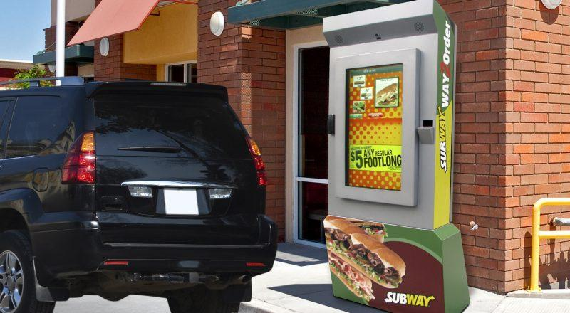 Zytronic touch screen technology on a Subway drive through kiosk