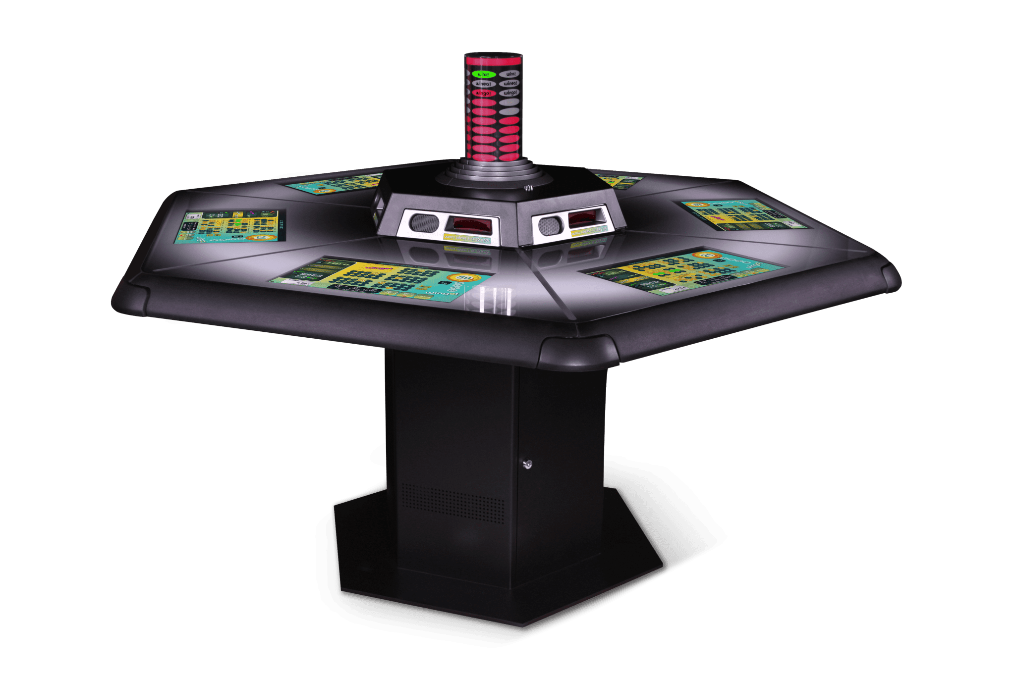A touch screen Mesa Hex Wingo 6P gaming kiosk