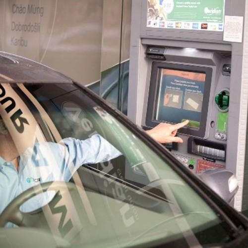Drive through Zytronic touch screen card machine