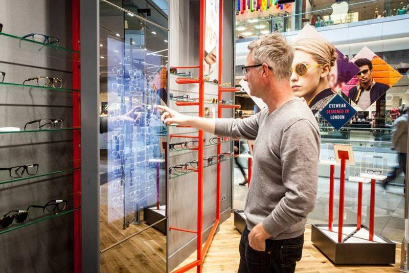 A multitouch unit in use at Kite GB's flagship store in London