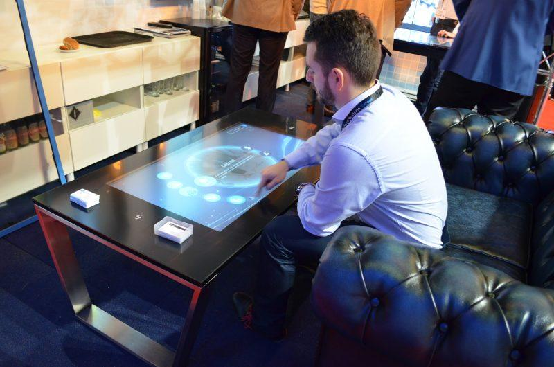 Touch table featuring Zytronic touch technology