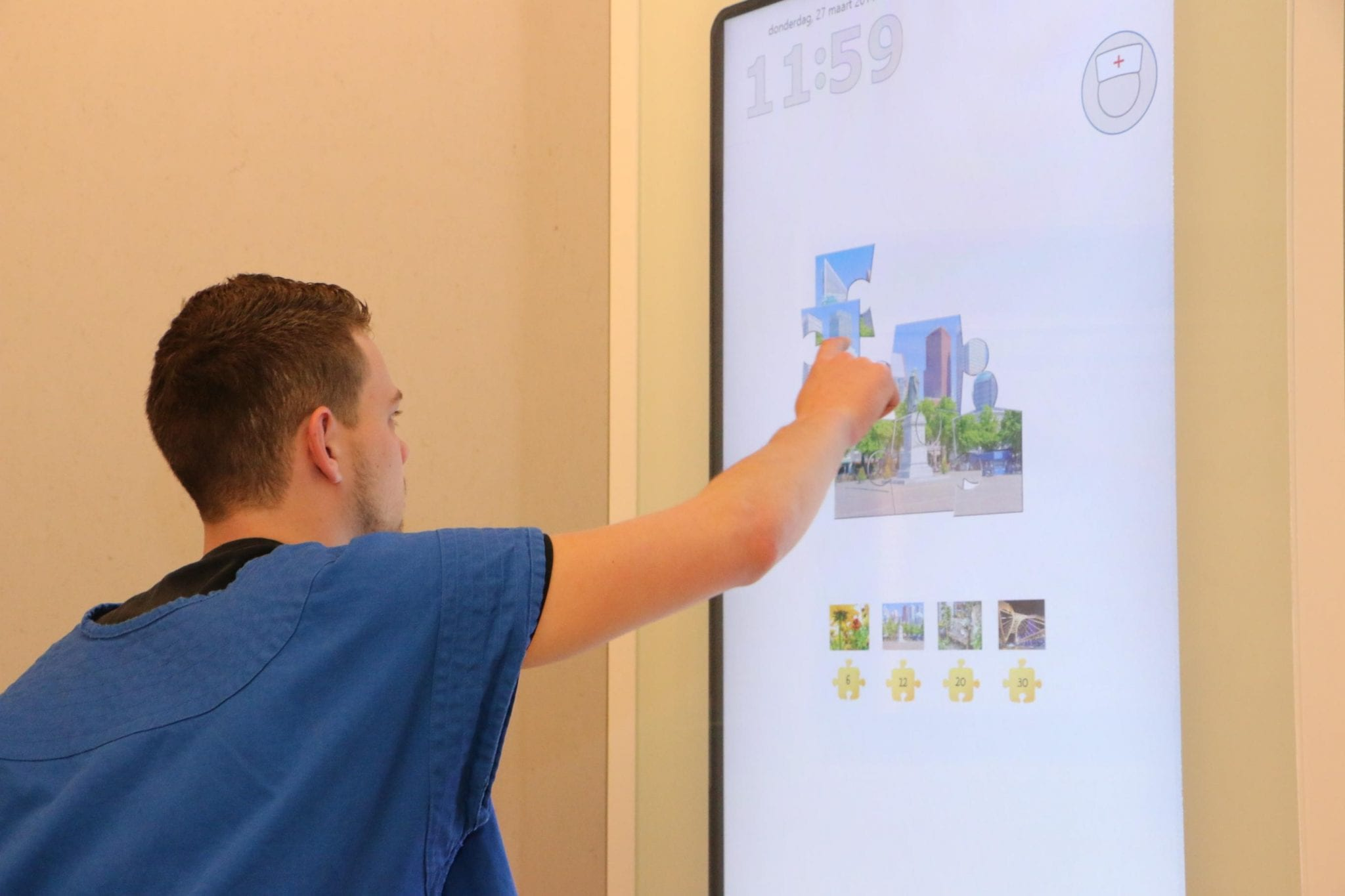 A Zytronic and Recornect interactive touchscreen for psychiatric patients