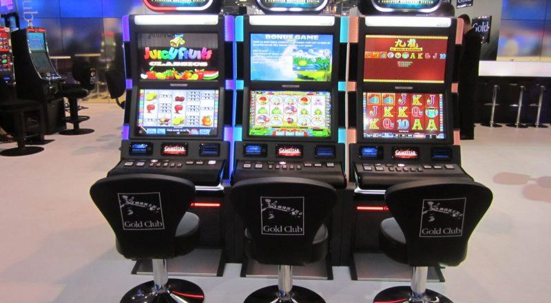 Three Global Monitor slot machines using Zytronic PCT technology
