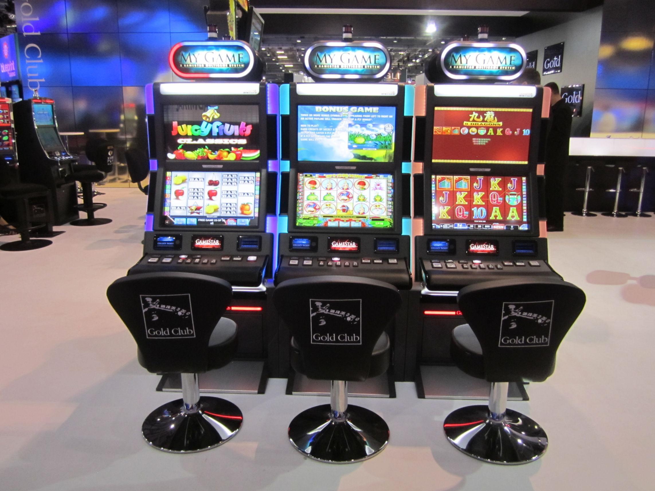 Three Global Monitor slot machines using Zytronic PCT technology