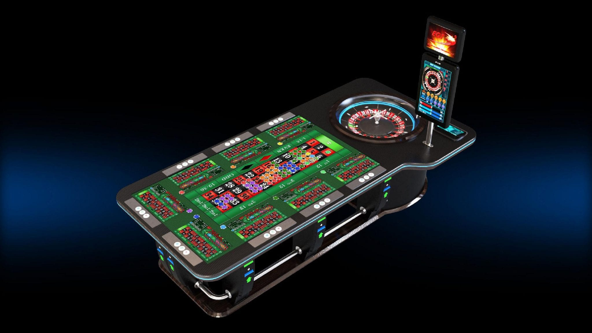 Zytronic technology EGT luxury touch screen roulette table