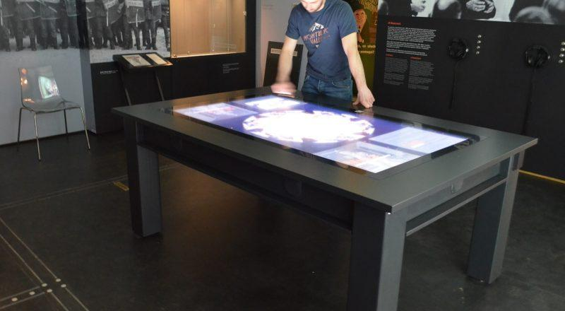Zytronic Multi touch screens for videofonika in use at Pan Tadeusz museum in Wroclaw Poland