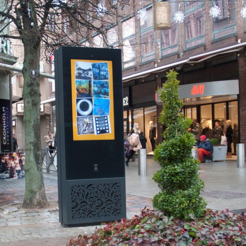 Zytronic and iMotion's interactive info kiosk, helsingborg