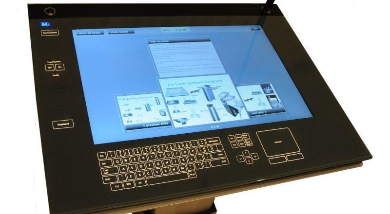 A close up of Zytronics Lectern displayscreen