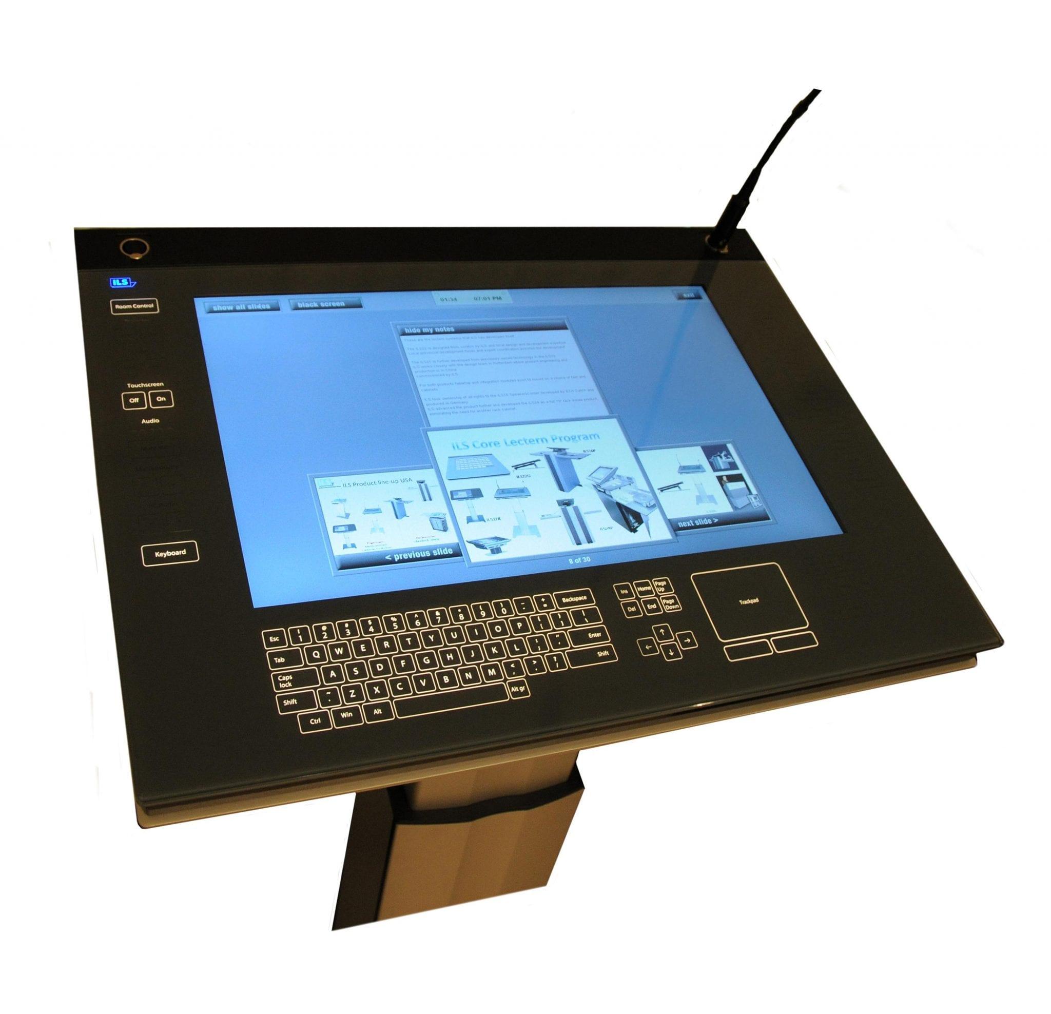 A close up of Zytronics Lectern displayscreen