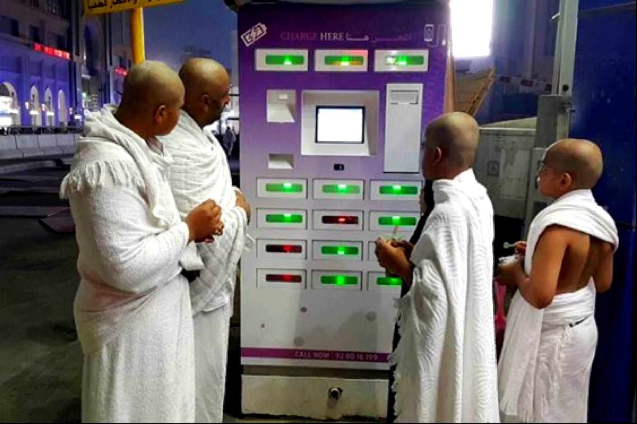 Zytronic touch sensor, Lastinski phone charging kiosks in Saudi Arabia