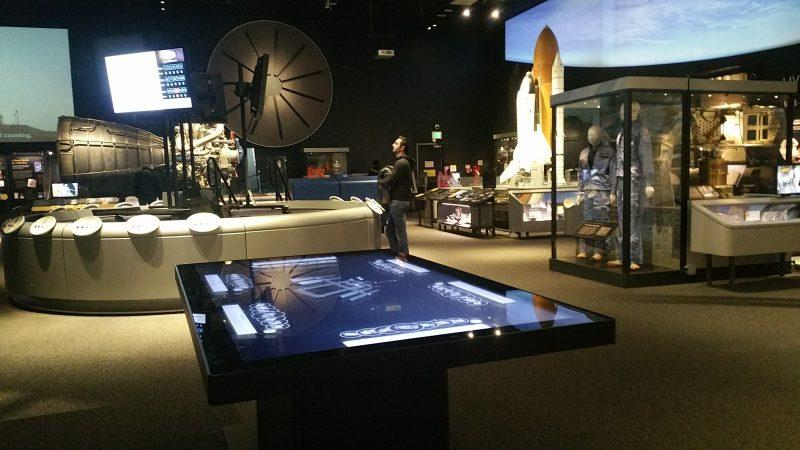 84' Zytronic Interactive touch table at the Smithsonian air space exhibit