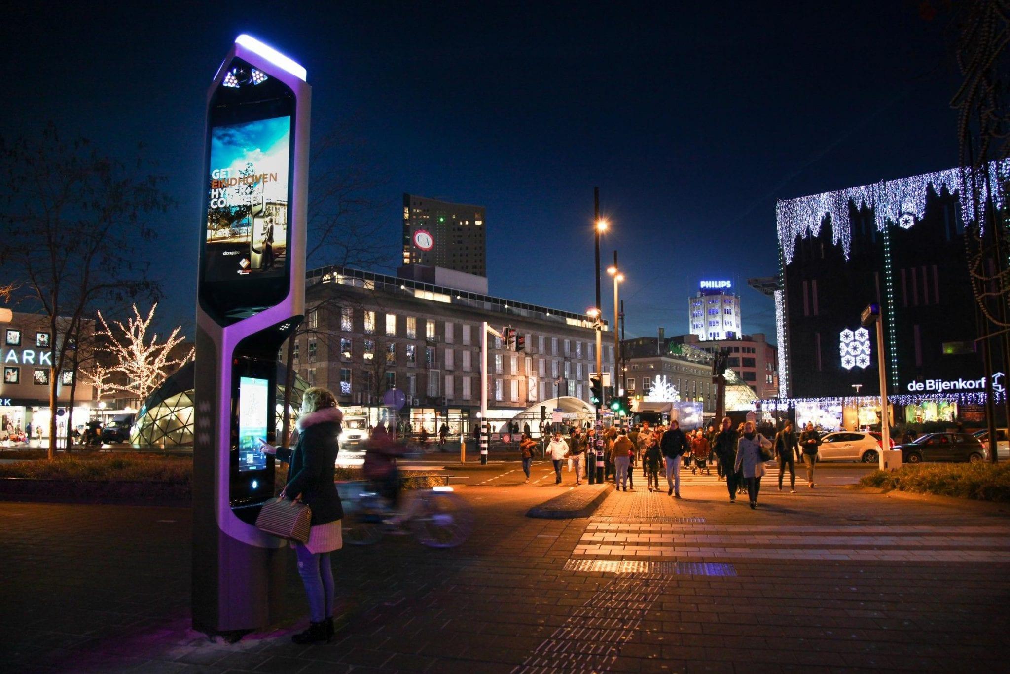 Zyntronic and Citybeacon interactive kiosk in Eindhoven