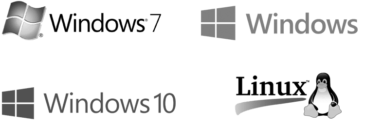 Windows and Linux logos