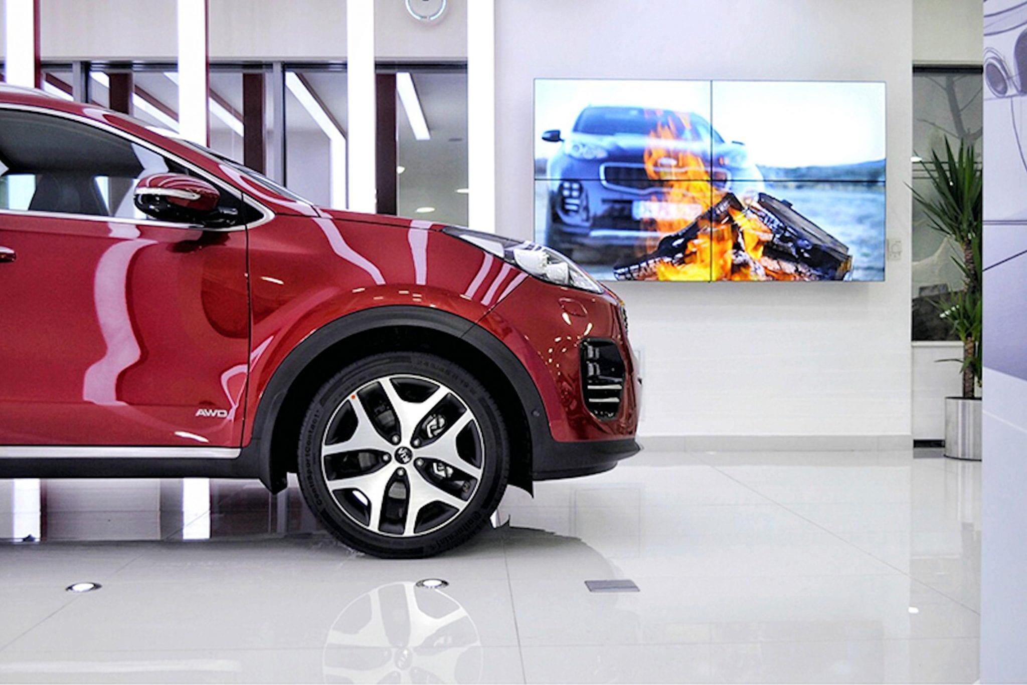 Zytronic touch technology in Kia car dealership