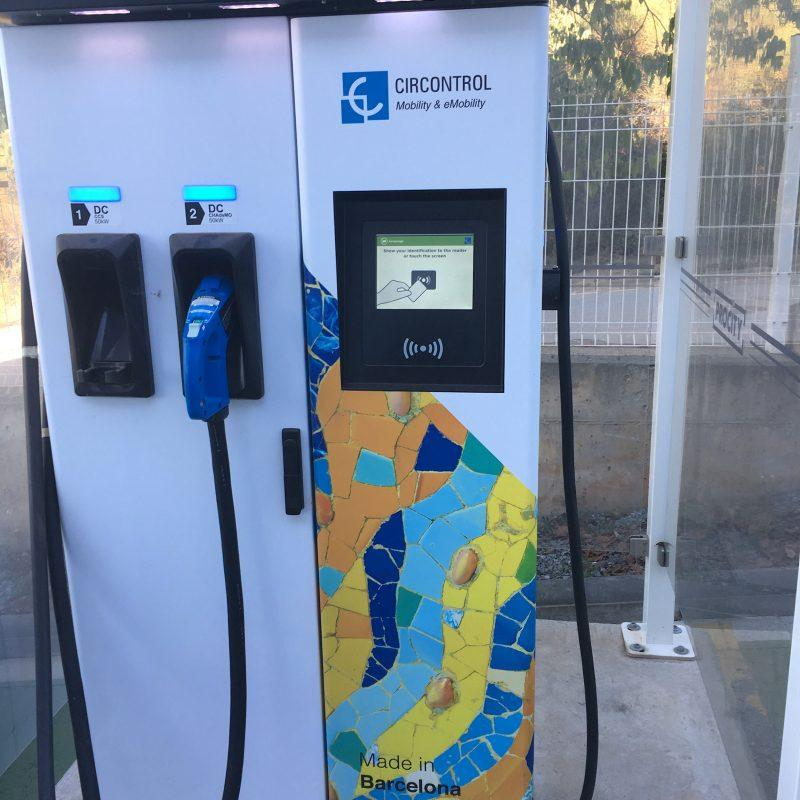 charging station using touch screen technology