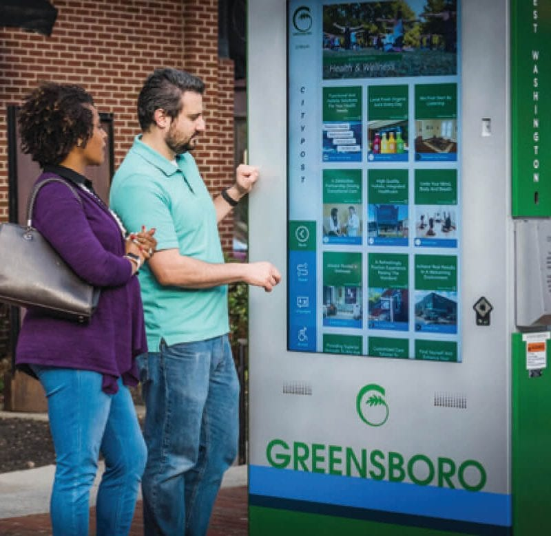 Zytronic touchscreen technology featured in Greensboro kiosk